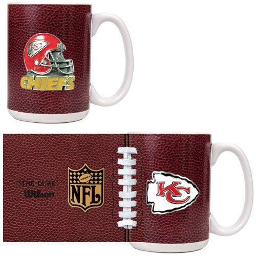 Kansas City Chiefs 2-Piece Gameball Coffee Mug Set (Primary Logo & Helmet Logo)