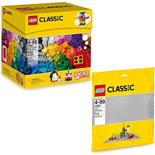 Lego Classic 2er Set 10695 10701 Bausteine Box Graue Grundplatte