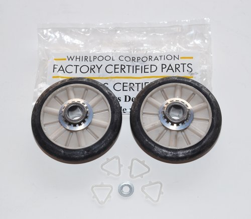 Part # 349241T Or Ap3098345 Genuine Factory Oem Dryer Drum Support Roller Kit For Whirlpool Kenmore And Roper front-38621