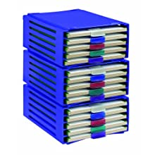 Heathrow Scientific HD99040A ABS Slide Folder Rack, 20 Place, 226mm Width x 340mm Height x 125mm Depth
