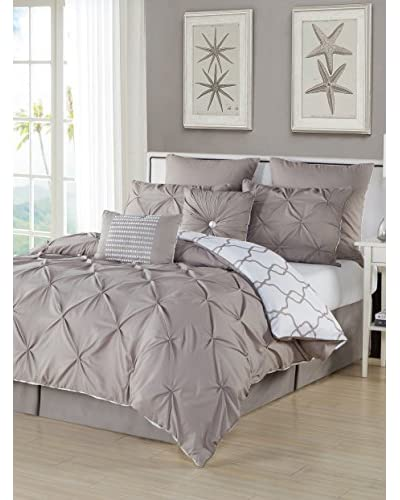 Duck River Textiles Esy Reversible Pintuck 8-Piece Overfilled Comforter Set