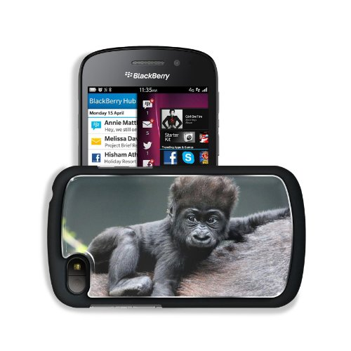 Monkey Baby Gorilla Ape Animals Blackberry Sqn100 Q10 Snap Cover Premium Aluminium Design Back Plate Case Customized Made To Order Support Ready 4 13/16 Inch (123Mm) X 2 12/16 Inch (70Mm) X 8/16 Inch (13Mm) Liil Q10 Professional Metal Cases Touch Accessor front-771001