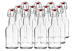 Chef\'s Star CASE OF 12 - 16 oz. EASY CAP Beer Bottles - CLEAR