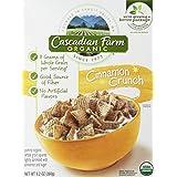 Cascadian Farm, Organic, Cinnamon Crunch Cereal, 9.2oz Box (Pack Of 4)