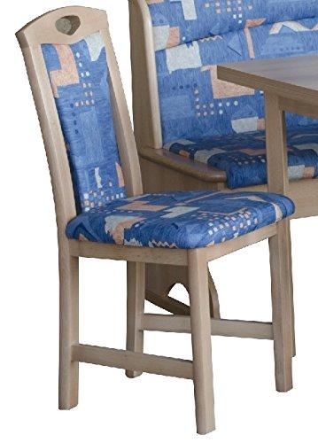 Stuhle werden aufgebaut geliefert - Elemente frei wählbar - Truheneckbank - Buche - gunstige Kucheneckbankgruppe - Eckbankgruppe - Eckbank - ausziebarer Tisch auf 180cm - 2 Stuhle (2548)