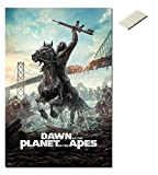 Bundle - 2 Items - Dawn Of The Planet Of The Apes Poster - 91.5 x 61cms (36 x 24 Inches) and Small Block Of White Tack