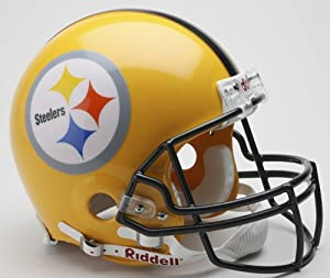 Pittsburgh Steelers 2007 Yellow Throwback Riddell Mini Football Helmet