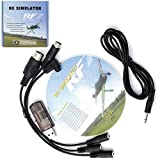 JahyShow® US 12 in 1 USB Simulator Cable Support FMS G4/G4.5/G5 XTR AeroFly RC RealFlight
