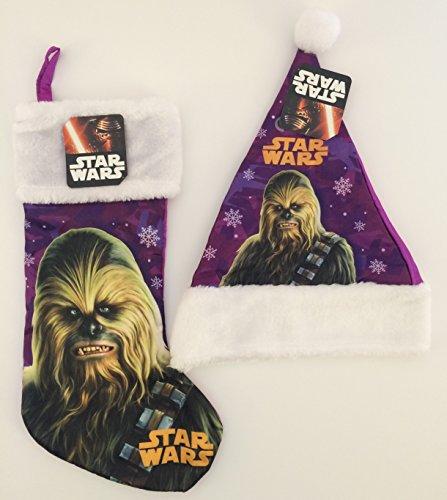Star Wars Chewbacca Santa Hat Christmas Stocking Pair