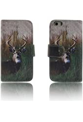 Deer Camo Tree Leather Wallet Purse clutch Handbag iPhone 5 5s Case Cover ID,Credit Card,Cash