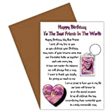 Best Friend Happy Birthday Card With Removable Keyring Gift