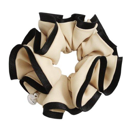 [Vantine] VINGTAINE bicolor simple scrunchie bicolor Barrettes hair accessories HS-1-BE beige