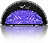 NailStar™ Lámpara LED Profesional, Secador de Uñas en Manicuras de Shellac y Gel con Temporizadores de 30, 60 y 90 segundos ó 30 minutos (Negro)