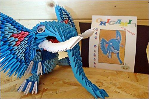 origami 3d kit der blaue elefant zum selber konstruieren. Black Bedroom Furniture Sets. Home Design Ideas