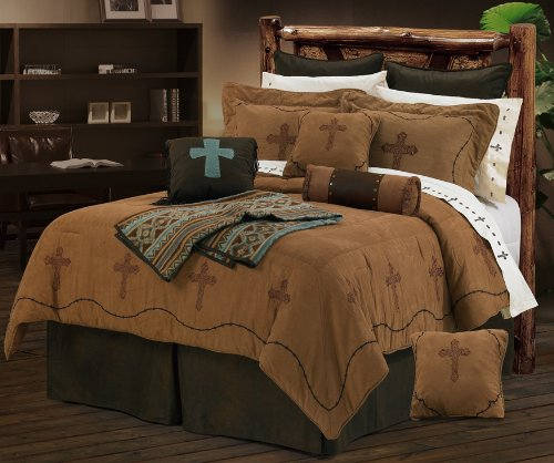 Hiend Accents Crosses Bedding Set, Super King