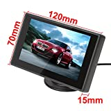 ePathChina® 4.3 Inch Digital TFT LCD Color Display 2 Video Input Car Rear View Monitor Mini DVD VCR Car Monitor With Reversing Camera Support Car DVD VCD STB Satellite Receiver and Other Video Equipment