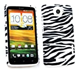 Emartbuy HTC One X Zebra Black / White Clip On Protection Case/Cover/Skin
