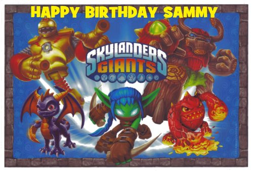 Skylanders Personalized for Free Edible Image Cake Topper Frosting Sheet