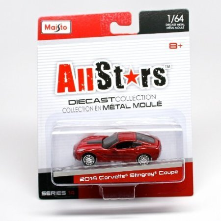 2014 Corvette Stingray Coupe (Red) * All Stars Series 14 * 2014 Maisto 1:64 Scale Die-Cast Collection