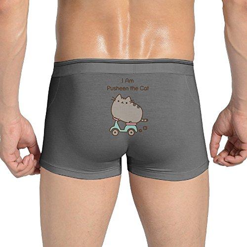 Men's I Am Pusheen The Cat Boxer Brief,underwear Ash M (Mens Briefs Underwear Starter compare prices)