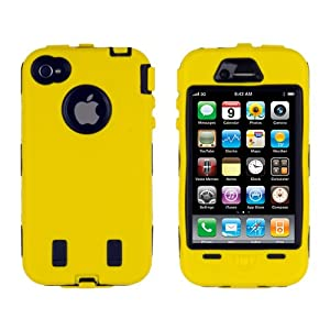 Body Armor for iPhone 4 / 4th Generation - Yellow & Black