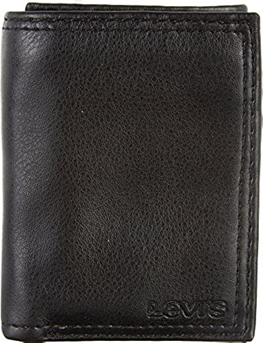 03. Levi's Men's Leather Trifold Wallet