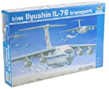 Trumpeter 1/144 Scale Ilyushin IL76 Candid Troop Transport Aircraft