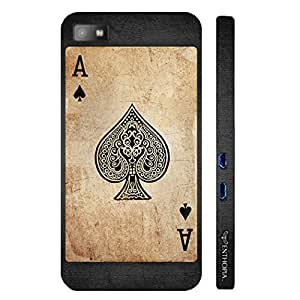 Blackberry Z10 BE THE ACE OF SPADES designer mobile hard shell case by Enthopia