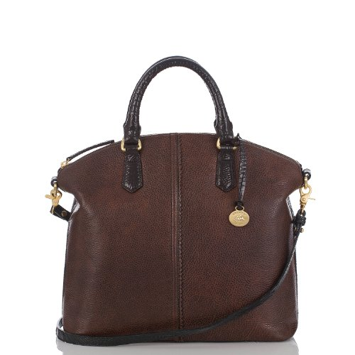 Large Duxbury Satchel<br>Smooth Dark Brown