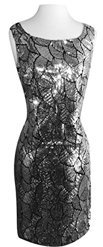 Peach Couture Short Glam Allover Sequin Cocktail Party Bodycon Sequin Dresses