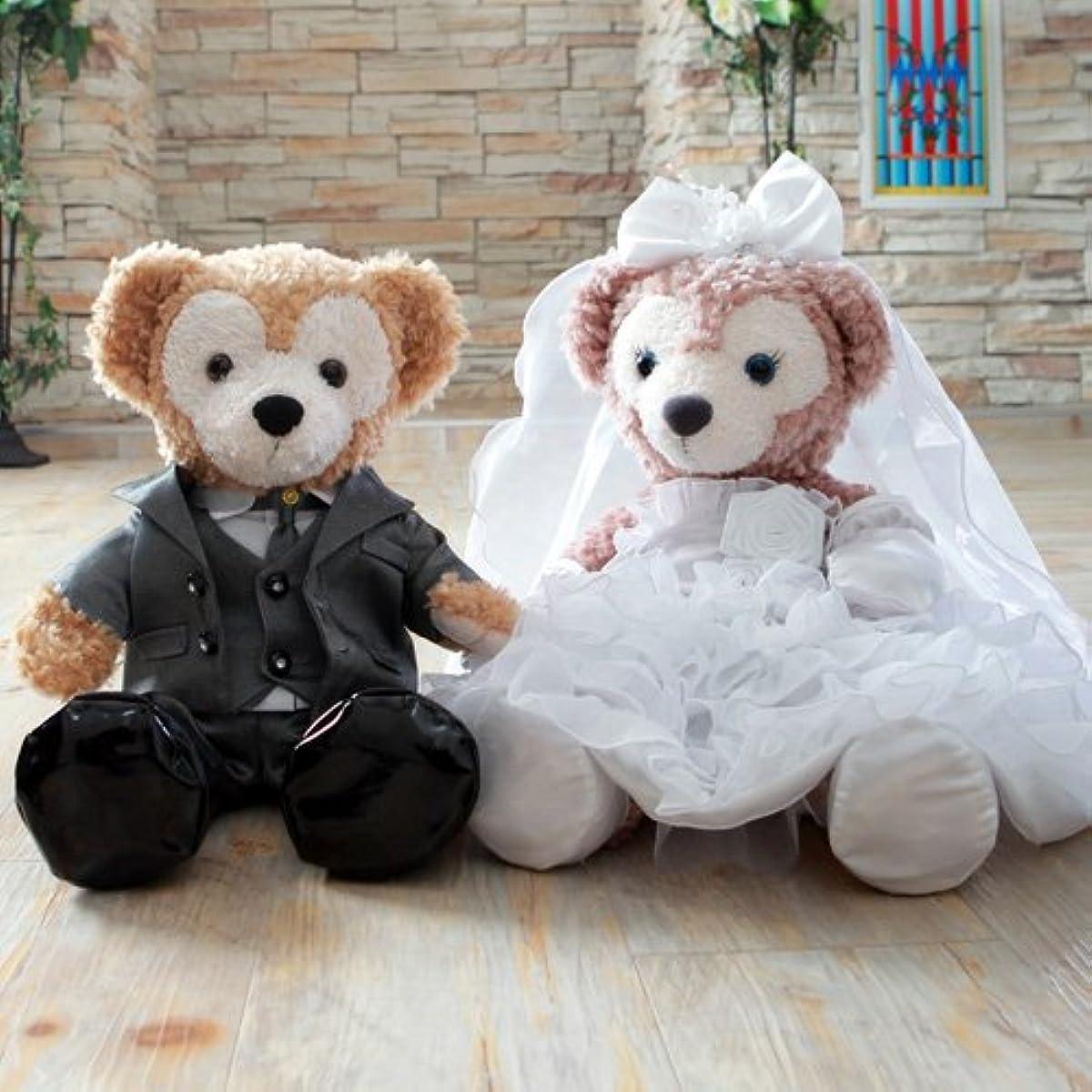 [해외] 더피 셸리 메이 코스튬 웨딩 드레스&턱시도(그레이)세트 결혼식의 웰컴 베어(베이스 업)에★【오리지널 핸드 메이드 코스튬】-