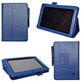 Generic PU Leather Case with Smart Stand for Acer Iconia TAB B1-A71 Blue