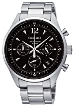 Seiko Chronograph Black Dial Mens Watch SSB067
