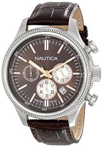 Nautica Men's N18693G Analog Display Quartz Brown Watch