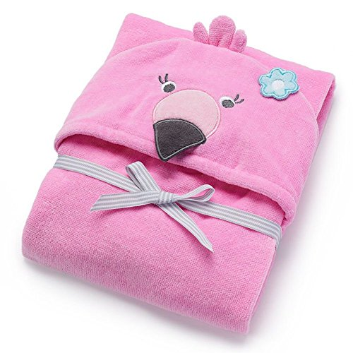 Carter's Unisex Hooded Bath Swim Towel (Pink Flamingo) (Hooded Towels Carters compare prices)