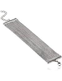 Style Fiesta Multi Strand Bracelet For Women (Silver) (JB229)