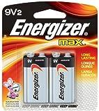 Energizer Alkaline Batteries 9 V Blister Pack 2