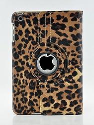 LiViTech(TM) Leopard Mini Design Series 360 Degree Rotating PU Leather Case Cover for Apple iPad Mini (Orange)
