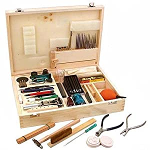 Findingking 57 Watch Case Jewelry Pro Repair Tool Kit Wood Box Kitchen Home