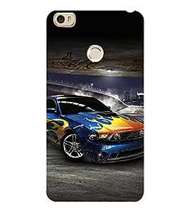 Sports Car 3D Hard Polycarbonate Designer Back Case Cover for Xiaomi Mi Max