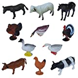 Pet And Farming Animals Plastic Toy Set - Pack Of 11 - 1c190 - Educational & Decorative Toys For Kids