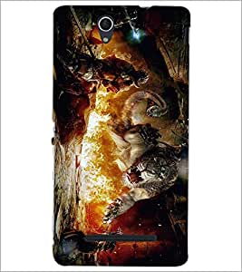 PRINTSWAG DRAGON LION Designer Back Cover Case for SONY XPERIA C3