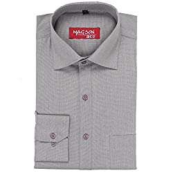Magson Ace Men's Formal Shirt 1968096031_Grey_44