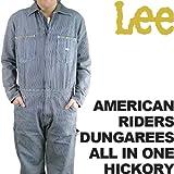 S リー メンズ アメリカンライダースダンガリーズオールインワン LEE MEN'S AMERICAN RIDERS DUNGAREES ALL IN ONE LM4213-504 ヒッコリー HICKORY ペインターパンツ オーバーオール つなぎデニム
