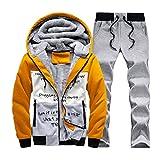 SemiAugust(セミオーガスト)メンズ 秋冬 アウトウェアジャケット ロングパンツ 厚いタイプ 保温 人気スタイル 三色 男性用 カラーはイエロー サイズはM