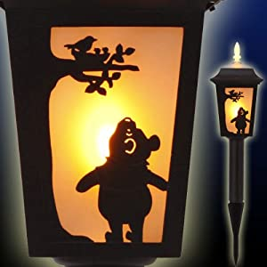 Disney Winnie The Pooh Silhouette Garden Light Post Type