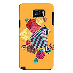 ColourCrust Samsung Galaxy Note 5 Dual Sim / Edge Plus Mobile Phone Back Cover With Abstract Style Modern Art - Durable Matte Finish Hard Plastic Slim Case