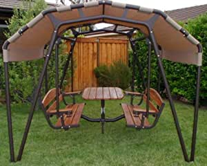 4 person adult yard swing