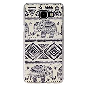 Galaxy A5 2016 Case, Style Hybrid Fancy Colorful Pattern Hard Soft Silicone Back Case Cover Fit for Galaxy A5 (2016) A5100 (Mini elephan)