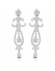 Nakshatra 18k Yellow Gold Diamond Stud Earrings - B00NW6BB5C